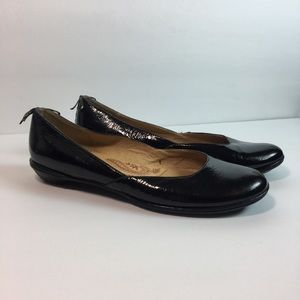 Sofft Black Patent Leather Ballett Flats
